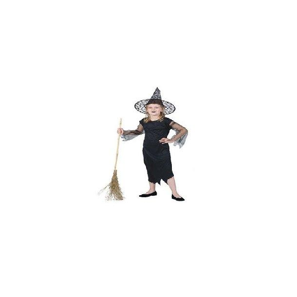 Sort hekse kostume